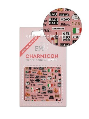 Charmicon 3D Silicone Stickers Italy 2