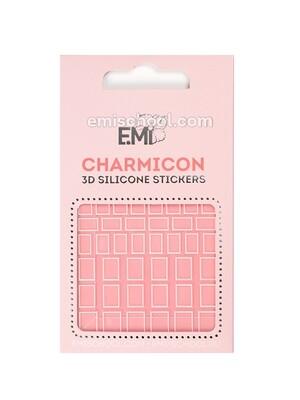 Charmicon 3D Silicone Stickers #114 Squares White