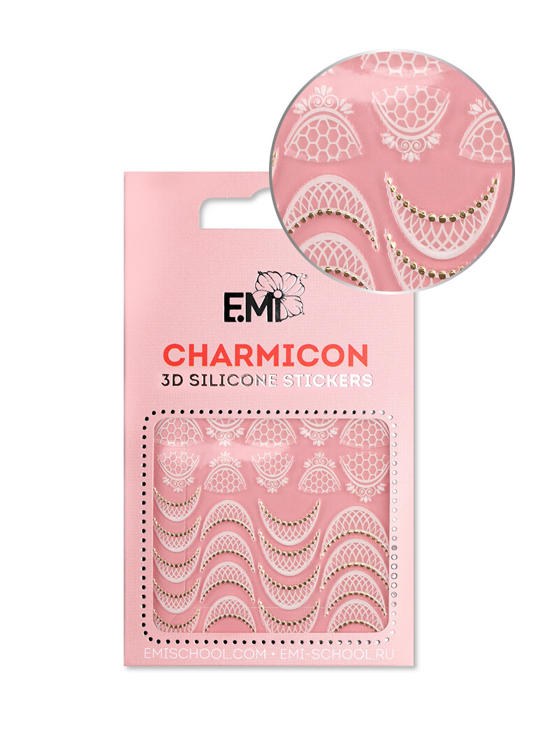 Charmicon 3D Silicone Stickers #108 Lace Lunula