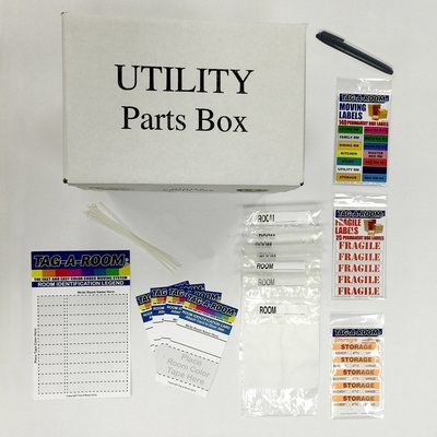 Parts Utility Box Bundle, Packing Moving Supplies