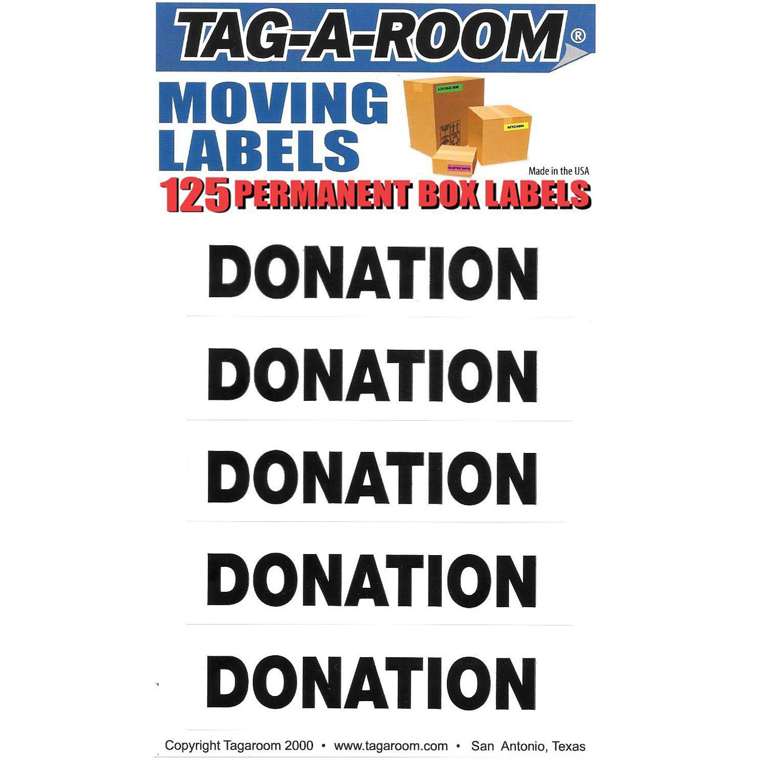 Donation Labels - 125 Count