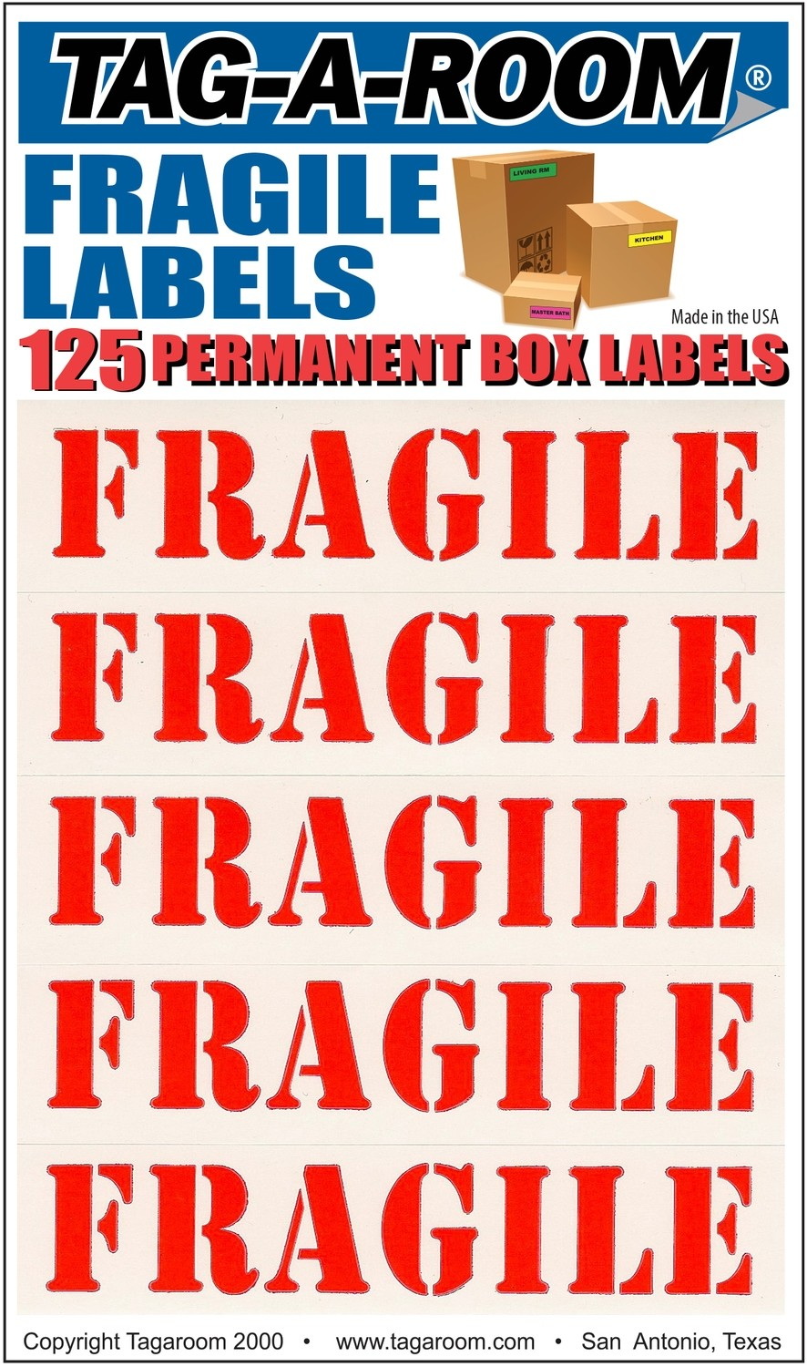 Fragile Labels - 125 Count