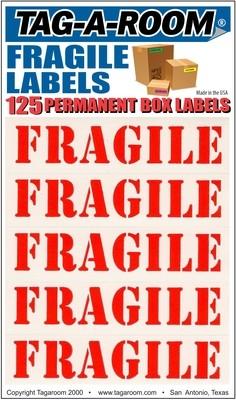 Fragile Labels - 125 Count