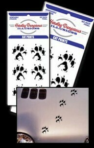Cat Paw Prints Removable Illusion Stickers