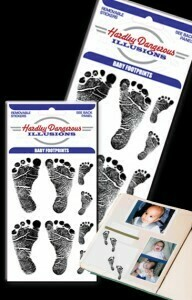 Baby Footprints Removable Illusion Stickers