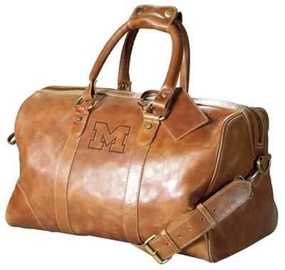 MI Leather Duffel