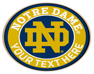 Notre Dame Personalized Roundel Mat