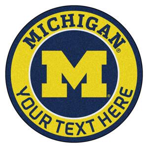 Michigan Personalized Roundel Mat