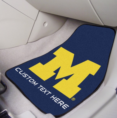 Michigan Personalized 2-Pc Carpet Auto Mat Set