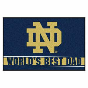 Notre Dame World's Best Dad Mat