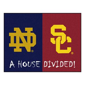 Notre Dame-USC House Divided Rug