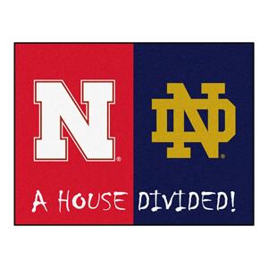 Notre Dame-Nebraska House Divided Rug