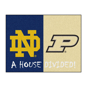 Notre Dame-Purdue House Divided Rug