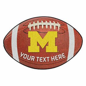 Michigan Personalized Football Rug