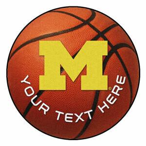 Michigan Personalized Basketball Rug