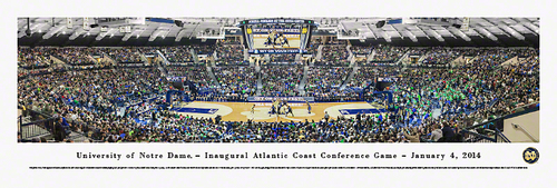 ND Basketball Panoramic Win Over Duke In Their First ACC Game!