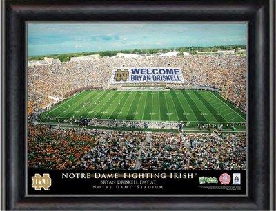 Notre Dame Stadium Personalized Print
