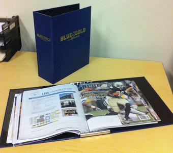 Blue & Gold Illustrated Binder