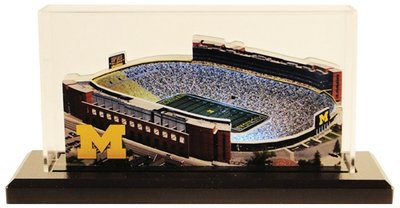Michigan Stadium Replica w/LED Lighting and Display Case