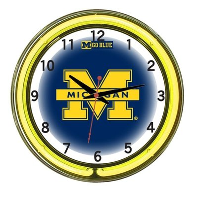 Michigan Neon Clock