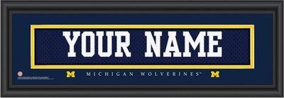 Michigan Jersey Nameplate Personalized Print