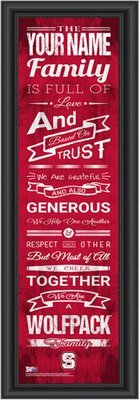 NC State Family Cheer Personalized Print