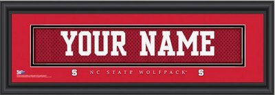NC State Nameplate Personalized Print