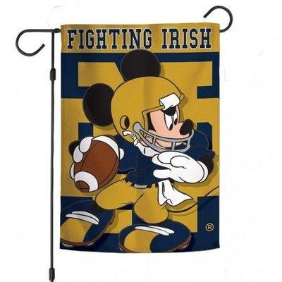 Notre Dame Mickey Mouse Garden Flag