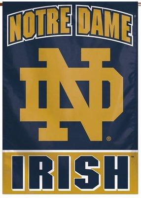 Notre Dame Irish Vertical Banner