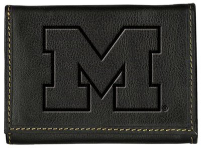 Michigan Tri-Fold Leather Wallet