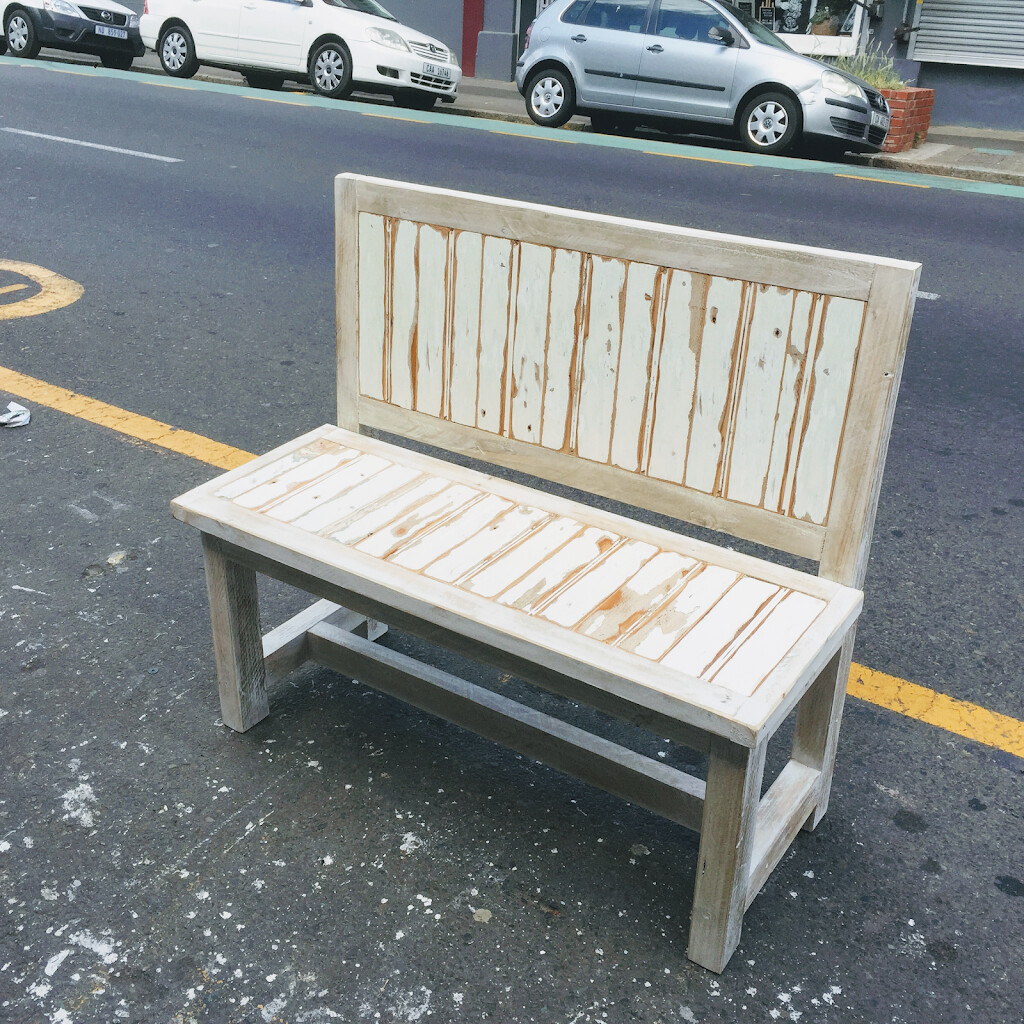 Back rest bench (rustic style)