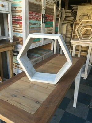 Medium hexagonal wall shelf