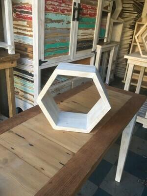 Small hexagonal display shelf