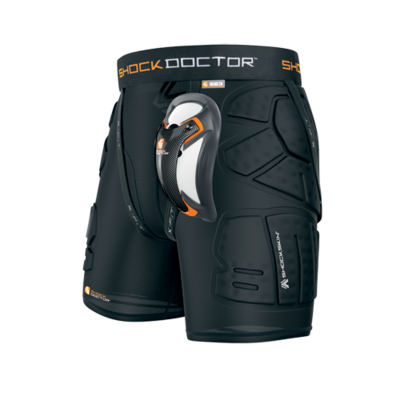 SHOCK DOCTOR SHOCKSKIN LAX RELAX FIT 5-PAD SHORT WITH ULTRA CARBON FLEX CUP
