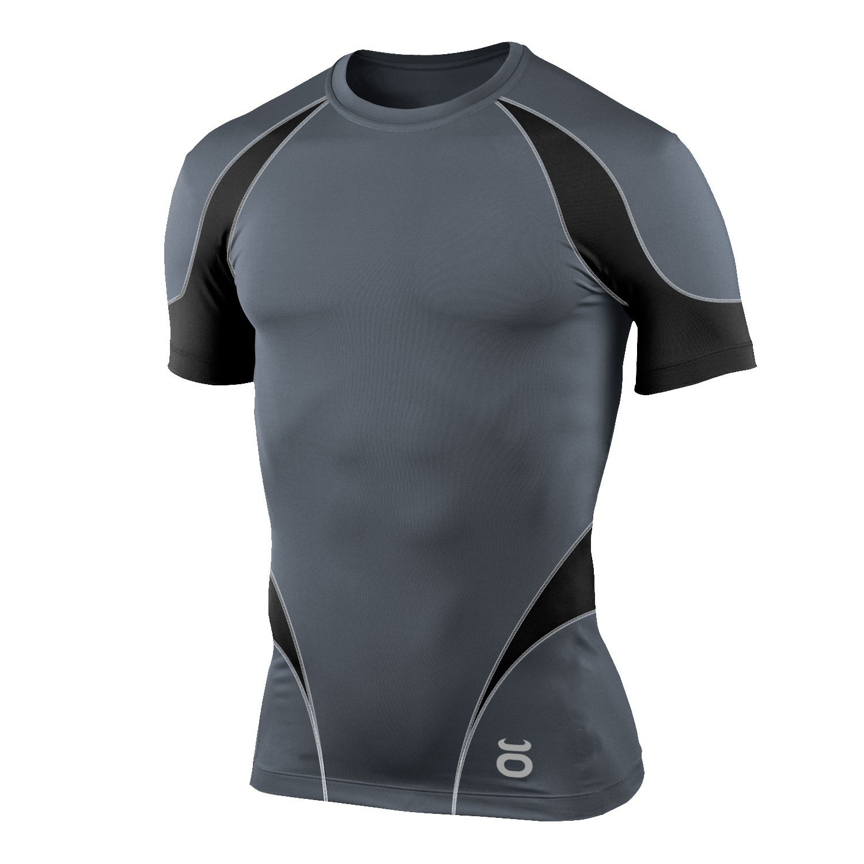 Pro Guard Compression Top - Short Sleeve (Grey/Black)