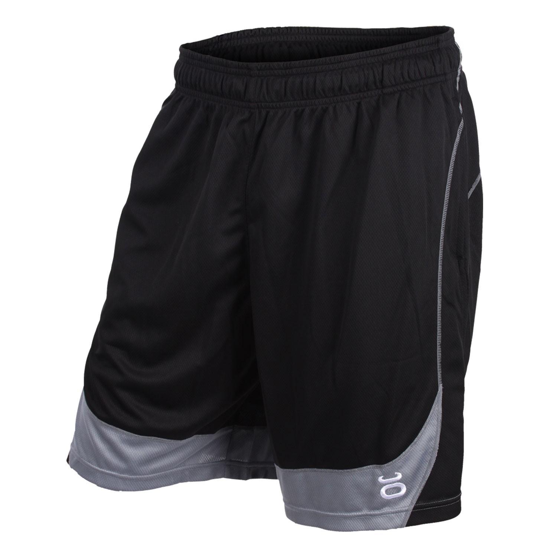 Twisted Mock Mesh Shorts (Black/Silverlake)