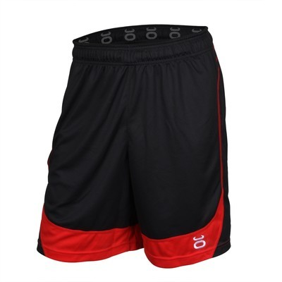Twisted Mock Mesh Shorts (Black/Red)