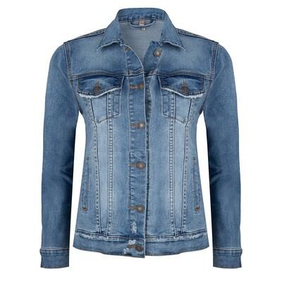209 Esqualo Jacket Jean Blue