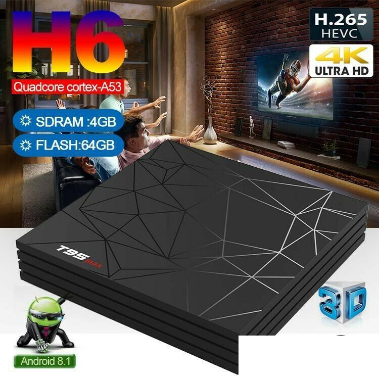 TV Box Allwinner H6 T95 Max (4 GB RAM & 64 GB ROM) 6K 4K HD (Android 9.0)