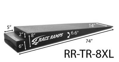 Trailer Ramps - 8 inch - Extra Long