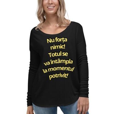 Tricou cu mâneci lungi pentru femei