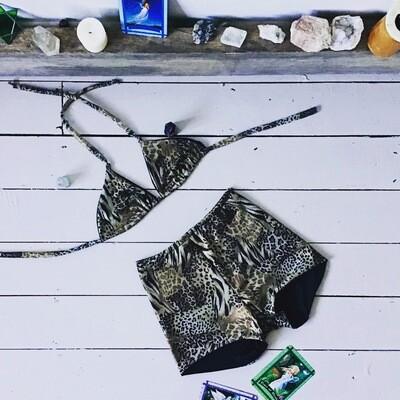 Leopard Print Bikini High Waist