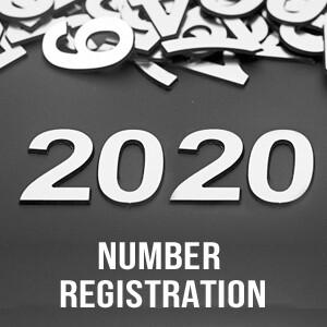 2020 Number Registration