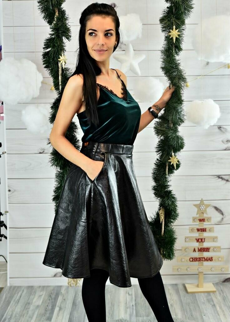 Пола- Black leather