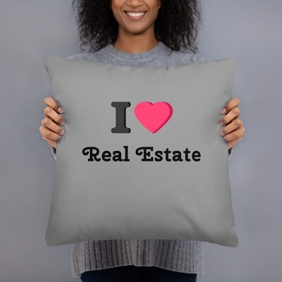 I Heart Real Estate Basic Pillow