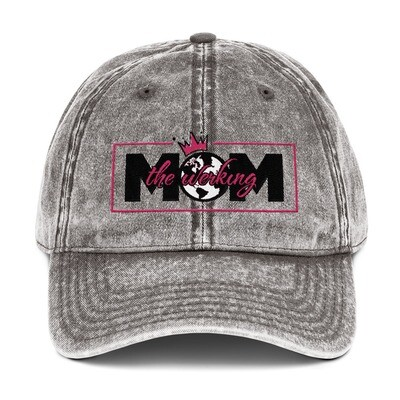 The Werking Mom Logo Vintage Cotton Twill Cap
