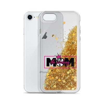 The Werking Mom Logo Liquid Glitter Phone Case