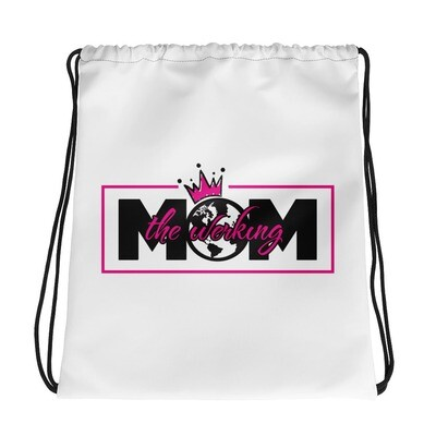 The Werking Mom Logo Drawstring bag
