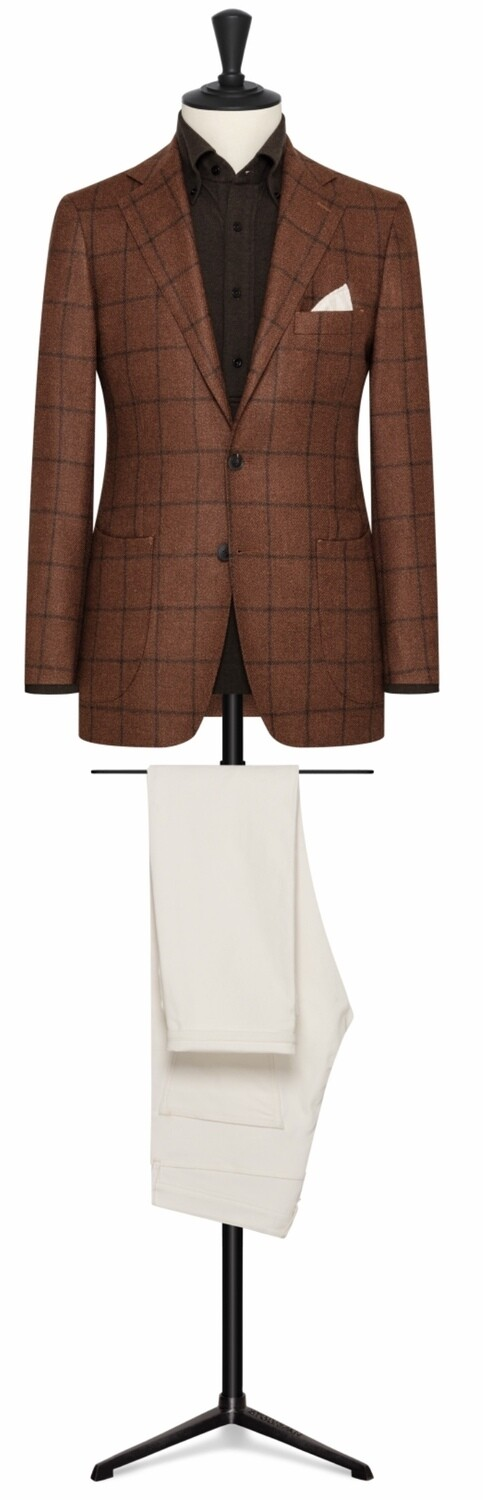 English Light Brown w/ Bold Brown Windowpane
