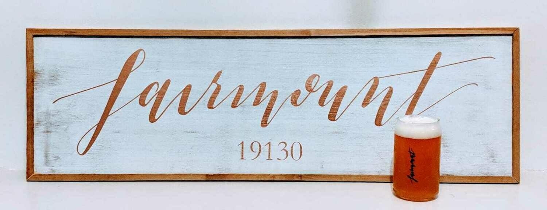 Custom Town Framed Sign